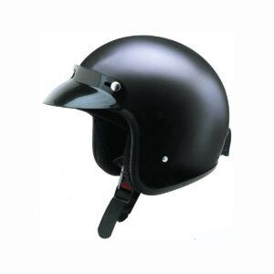svart mopedhjälm