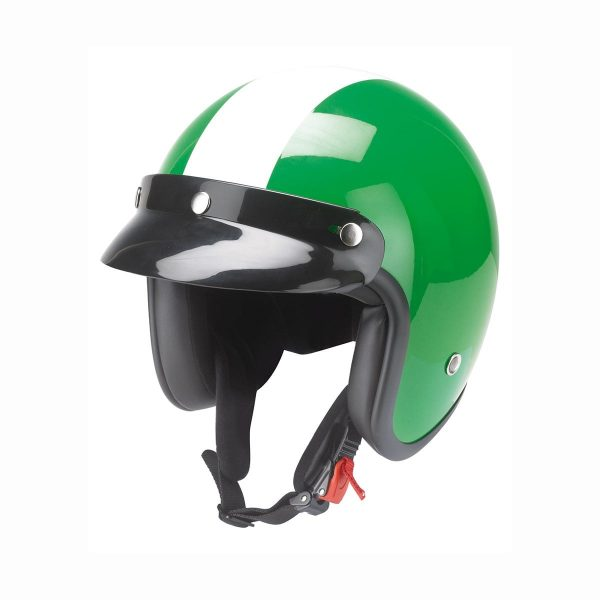 Grön mopedhjälm
